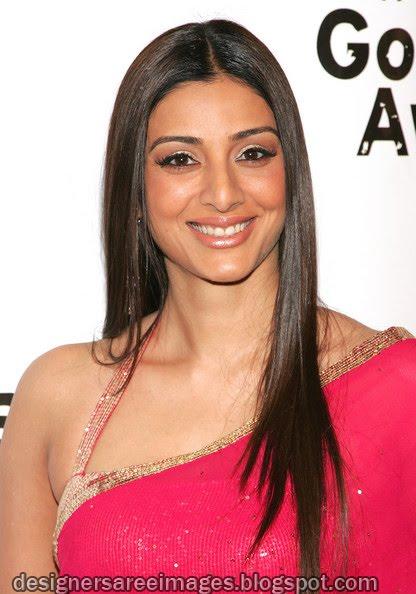 Actress Tabu in Pink Saree with Designer Sari Blouse photo