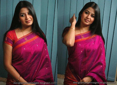 South Indian Actress Sangeetha in Silk Saree images