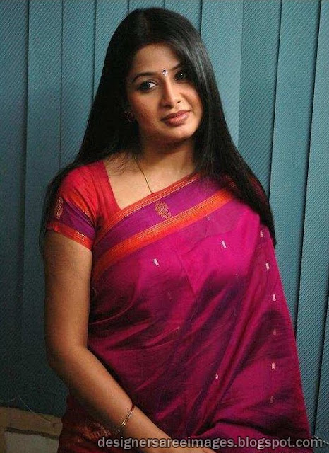 South Indian Actress Sangeetha in Silk Saree photo