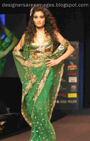 Shane Falguni Peacock Saree Collection