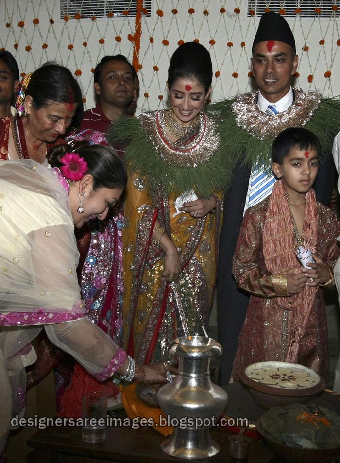 Manisha Koirala in Wedding Saree