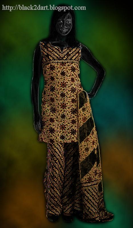 Sleeveless Salwar Kameez with Fancy Neck Design Model