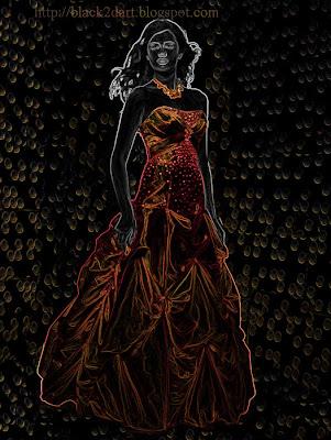 Digital Art, Photoshop Glowing Edges Art