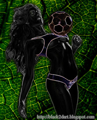 Digital Art, Photoshop Glowing Edges Art