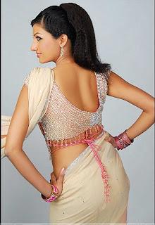 Actress Hamsanandini in Pink Designer Saree