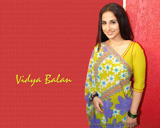 Vidya Balan in Yellow color Floral print Saree paired with matching three fourth sleeves plain sari blouse