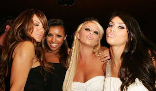 Robin Antin, Melody Thornton, Aubrey Day and Kim Kardashian