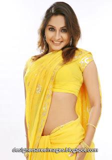Actress Aashi Thakur in Yellow Saree
