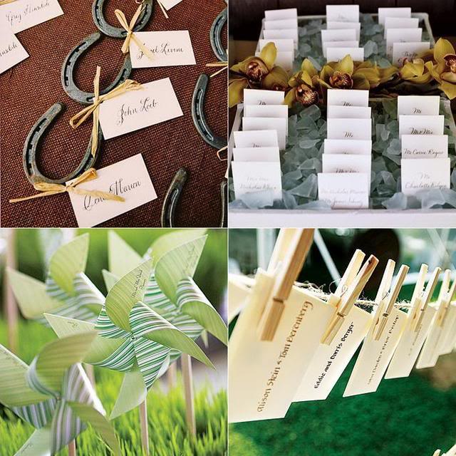 Unique escort cards Perrysburg wedding planner