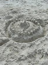 Jason's creation at the beach