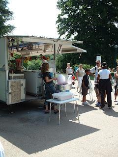 Baraque de commerçant du parc