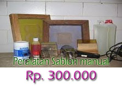 Peralatan Sablon manual