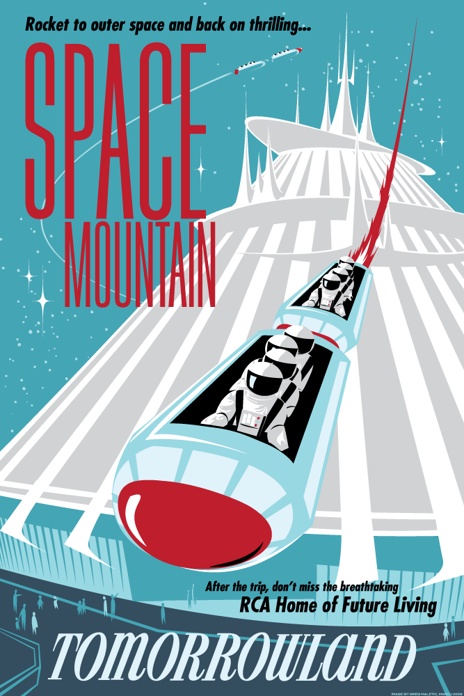 My pretty baby cried she was a bird vintage disneyland for Space poster design