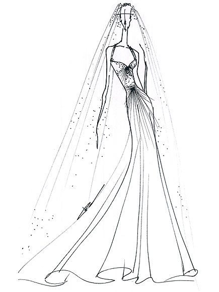 kate wedding dress sketches. Wedding Dress sketches for
