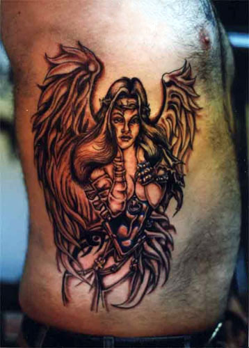 Safety and Love With Angel Tattoo Design