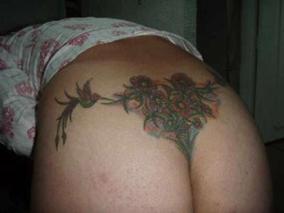 sexy girls Lower Back Tattoo -flower lower back tattoos