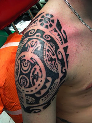 Shoulder Maori Tribal Tattoos For Men 10