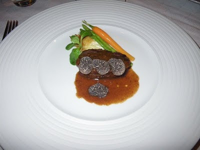 Grilled Japanese beef filet with truffles and