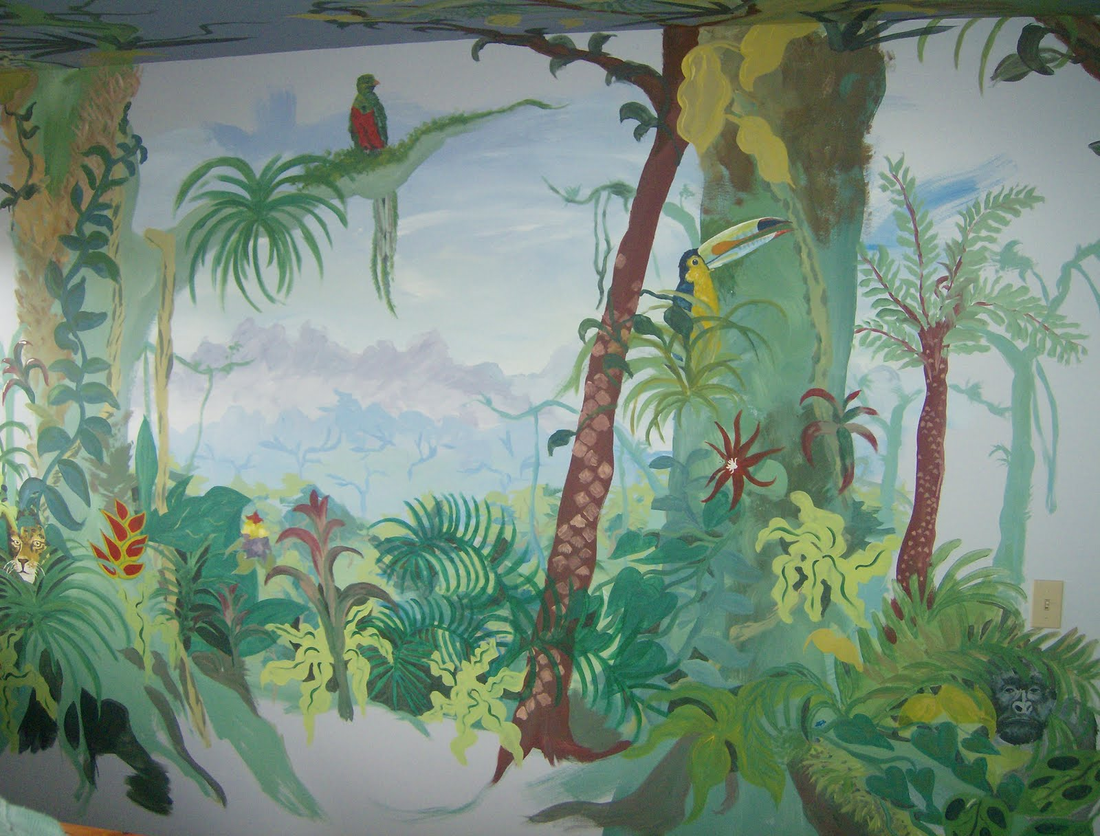homegrown murals rainforest mural rainforest waterfall wall mural rainforest wallpaper