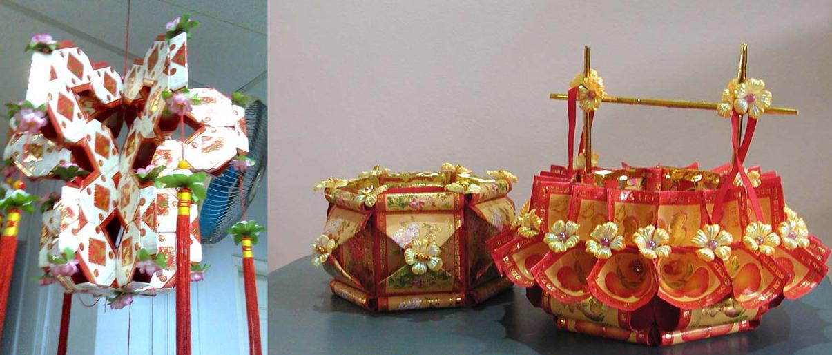 Red packet chinese lanterns how to make chinese lanterns for Ang pow packet decoration