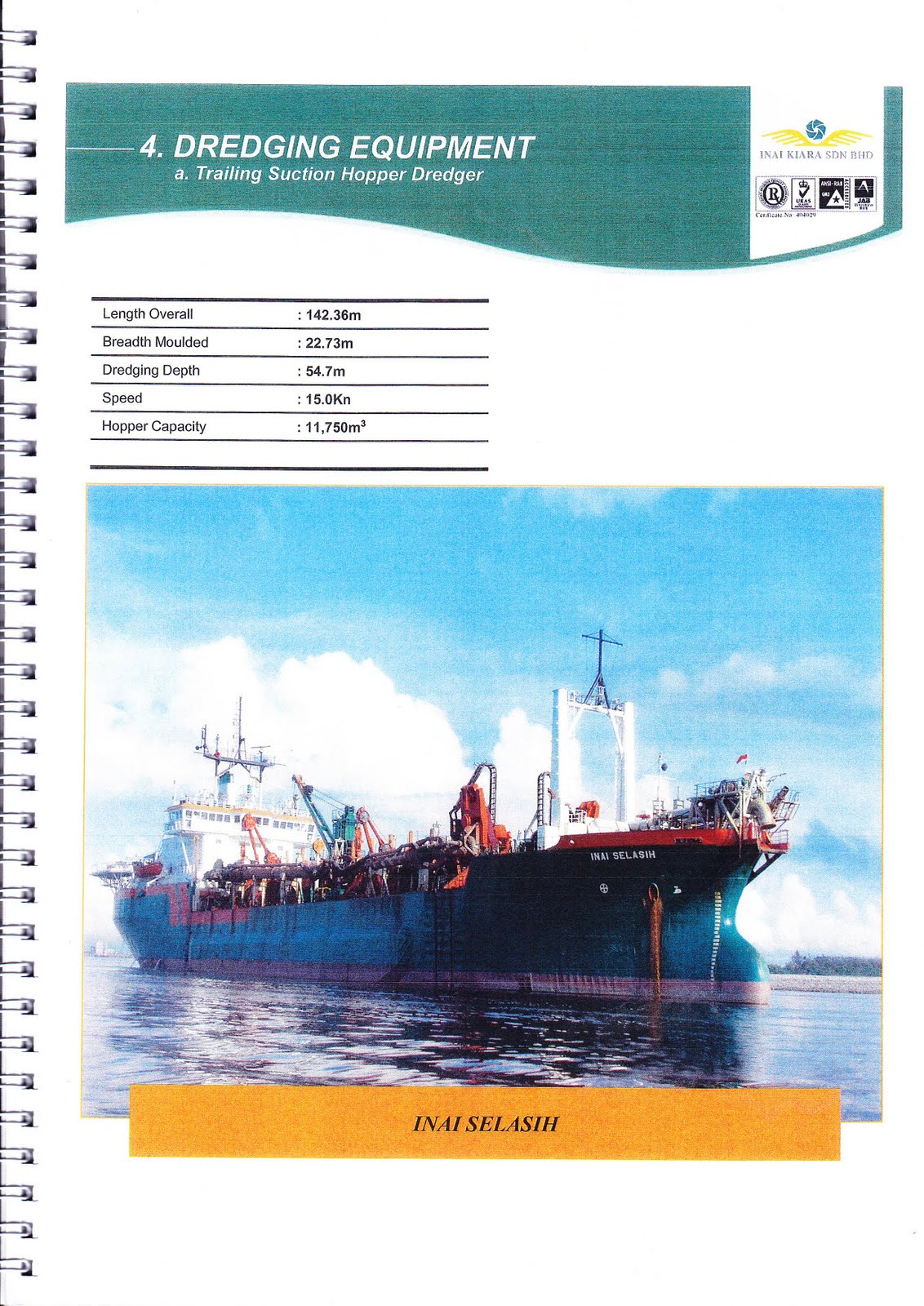 Inai Kiara Sdn Bhd One Of Inai Kiara TSHD Vessel FRAUD