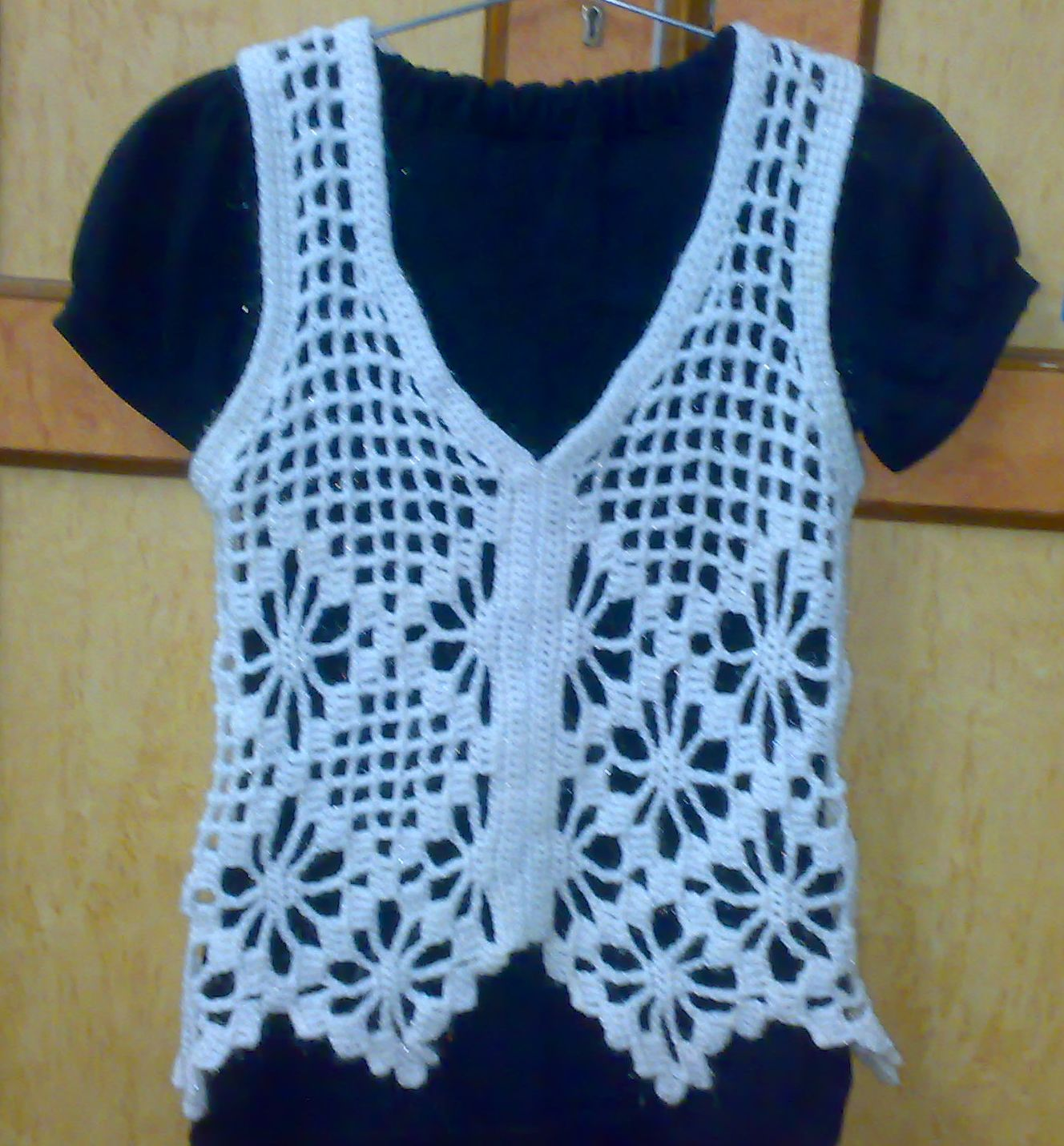 The Crochet Tangle Untangled: Filet Crochet - White Mesh Vest