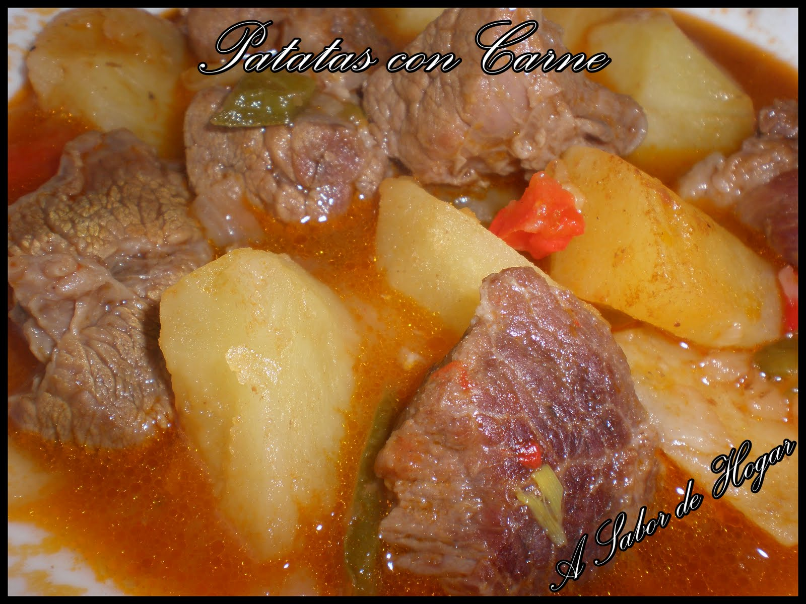 A sabor de hogar patatas con carne en fussion cook y olla r pida y harinas santa rita - Patatas en olla rapida ...