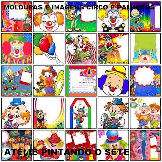 CD MOLDURAS DIGITAIS E IMAGENS DE PALHA  OS E DE CIRCO