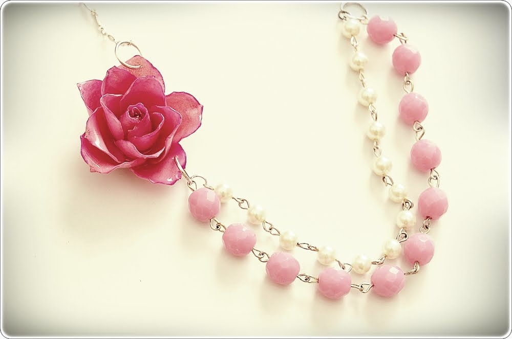 SewSweetStitches: Beaded Rose Necklace Tutorial