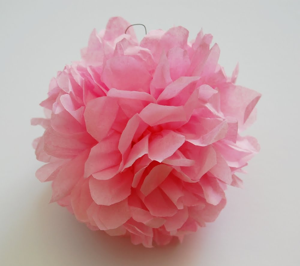 SewSweetStitches: Handmade Tissue Paper Flowers and Pompom ...