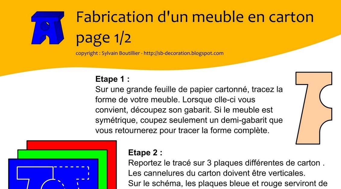 Carton bricolage d coration fabrication d 39 un meuble - Fabrication de meuble en carton ...