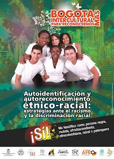 Afiche afro como riqueza social de Bogotá