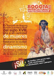 Afiche dinamismo de las mujeres afro en el bicentenario
