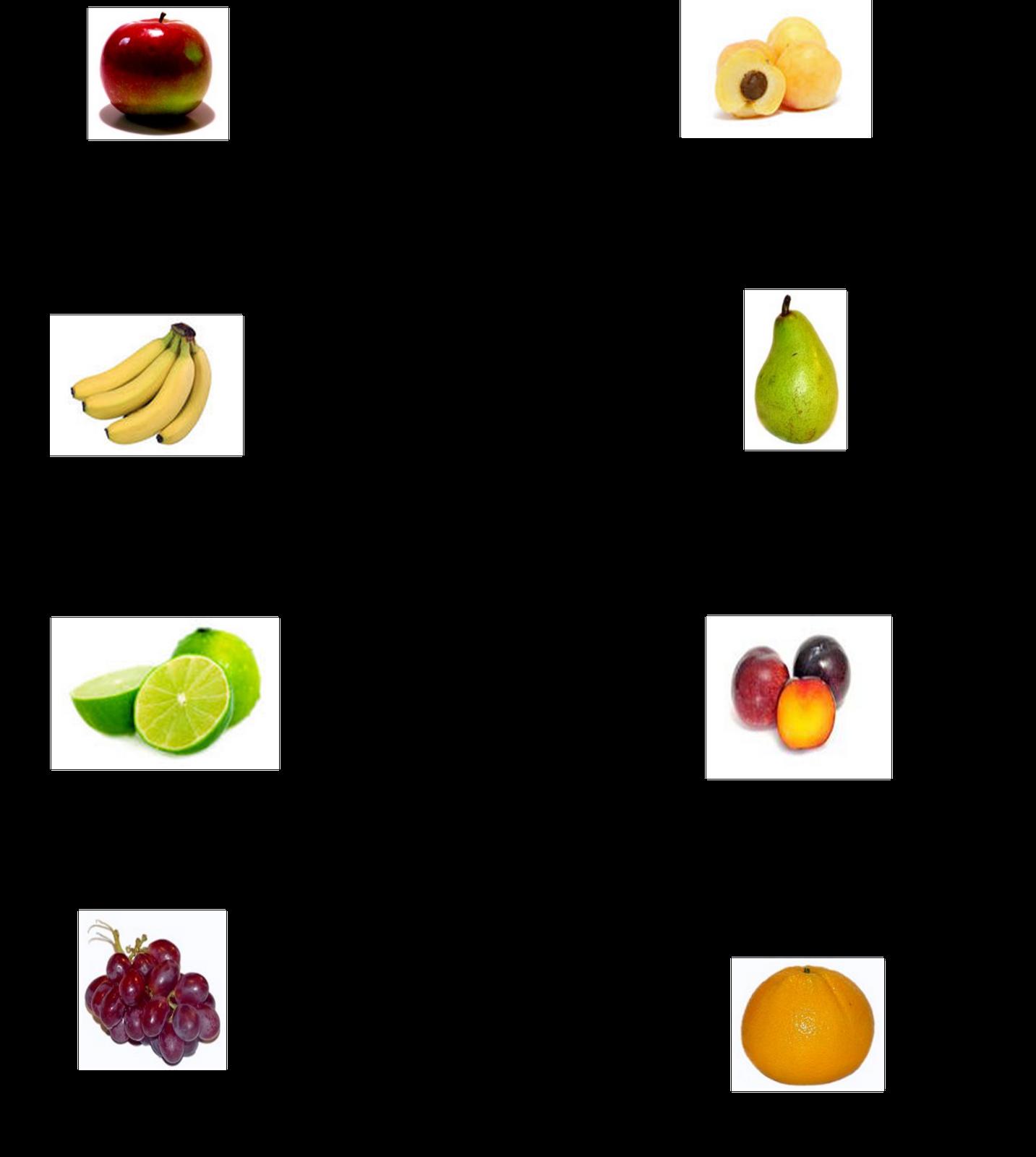 Nombres de frutas en ingles y espa ol imagui - Verduras lista de nombres ...