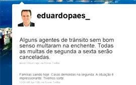 Paes anuncia cancelamento de multas de trânsito na semana