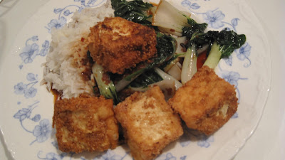 feast with bron: Chilli Salt Crusted Tofu with wilted ...