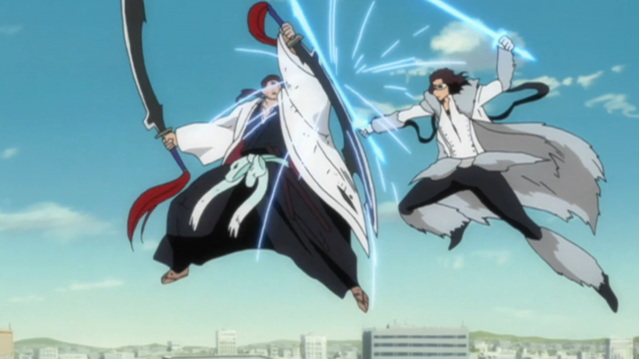 So the person who stabbed Stark was our good friend Kyoraku-taichou ...