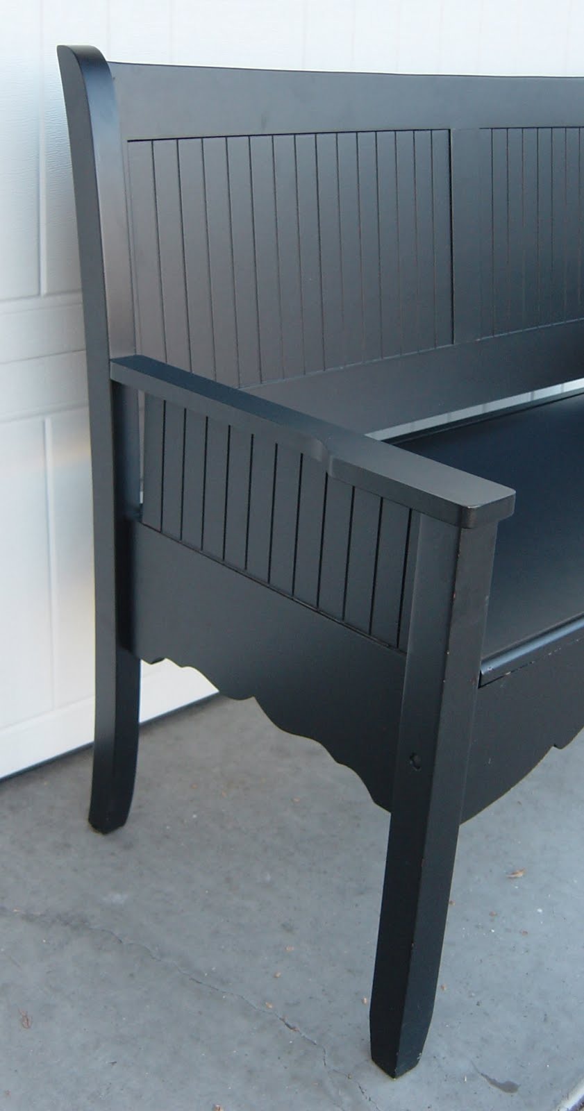 The Backyard Boutique By Five To Nine Furnishings Black Storage Bench Toy Box