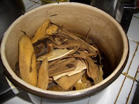 Cooking the Chinese Medicine in a pot