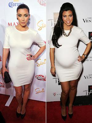 Auntie Kim + Butt vs. Momma Kourtney + Unborn Belly