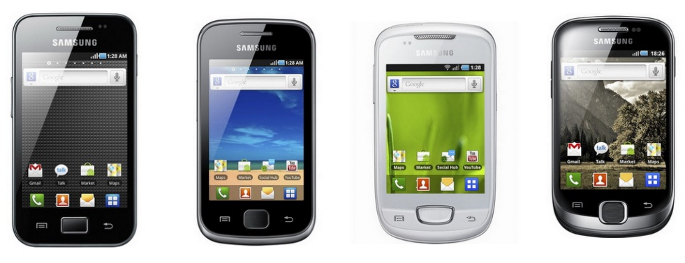 Samsung Galaxy Ace, Gio, Fit, Mini all phones have ...
