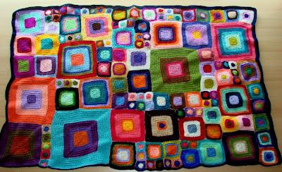 Inspiración Hecha A Mano Colcha De Cuadros De Crochet