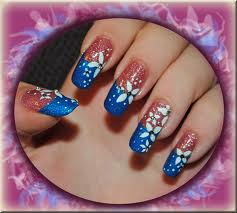 Nail Art Style On Women Hawaiian Designs
