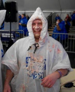 Jeremy Stroop survives pie fight