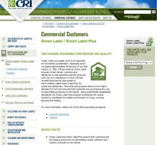 CRI Green Label Plus Indoor Air Quality Standard
