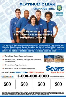 Sears Carpet Cleaning Ad Supports CRI Seal of Approval