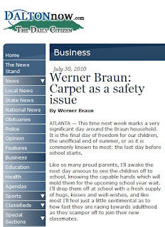 Carpet Safety and Ergonomic Benefits: Werner Braun