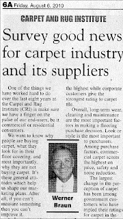 CRI Commercial Survey - Good News For Carpet Industry: Werner Braun