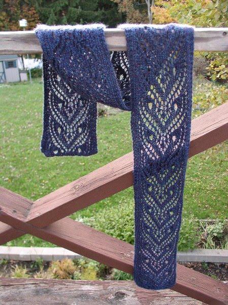 схемы вязания ажурных шарфов спицами.