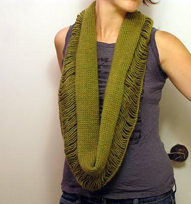 Разрушенный шарф-воротник